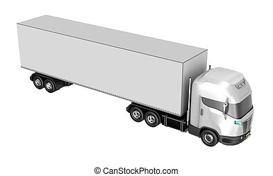 Truck isolated over white. My own design.