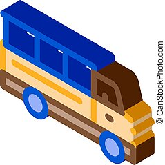 Truck isometric icon vector illustration