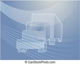 Truck land transport illustration - Illustration of a truck ...