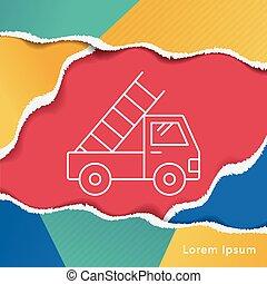 truck line icon