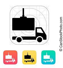Truck loading icon.