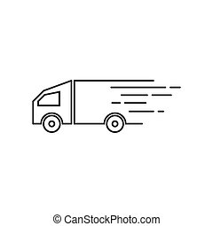 Truck logo icon ilustration vector