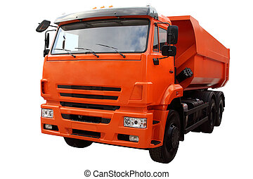 truck., moderne, décharge