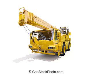 Truck Mounted Crane on white background