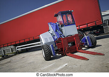 Truck Mounted Forklift With Trailor - Silver Truck Mounted...