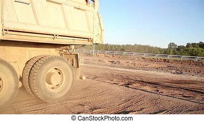 Truck moving Backwards