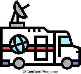 truck news color icon vector illustration