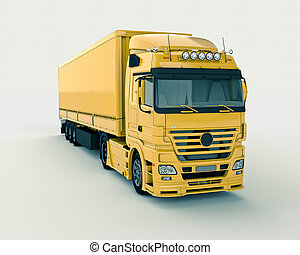Truck on a light background, with shadows