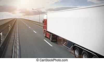 truck on bridge revealing its load