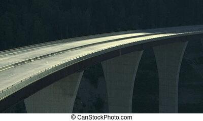 Truck on high bridge 02
