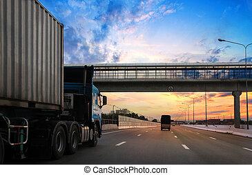 truck on highway
