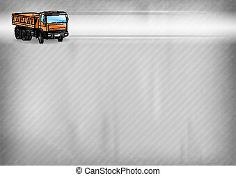 truck on the background