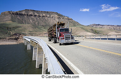 Truck on the bridge