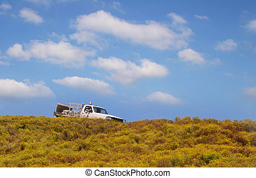 Truck on the hill