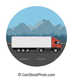 Truck on the mountain road