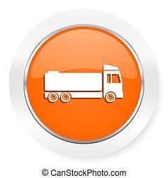 truck orange computer icon