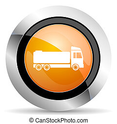 truck orange icon cargo sign