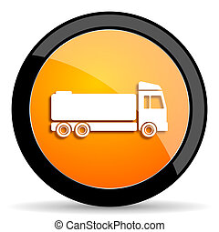 truck orange icon