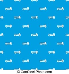Truck pattern seamless blue