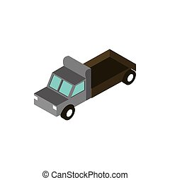 truck pickup cargo transport vehicle isometric icon