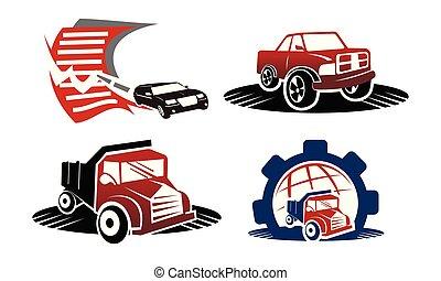 Truck Pickup Logo Template Set