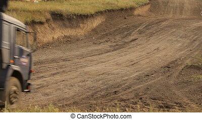 Truck racing cars