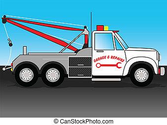 truck., remorquage