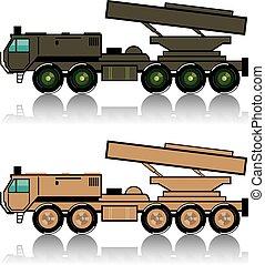 Truck rocket launcher
