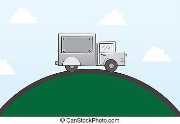 Truck Round Road