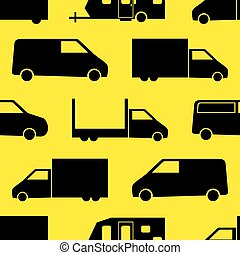 Truck seamless pattern