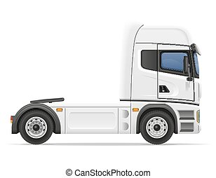 truck semi trailer vector illustration