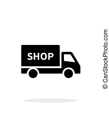 Truck shop simple icon on white background.
