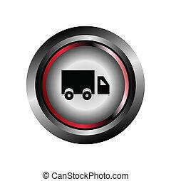 Truck sign vector