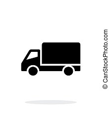 Truck simple icon on white background. Vector illustration.