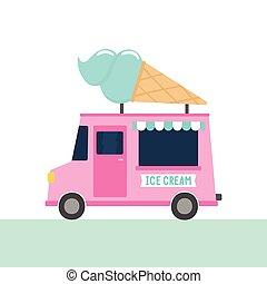 truck., sorvete