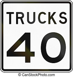 Truck Speed Limit Sign - United States speed limit sign for...