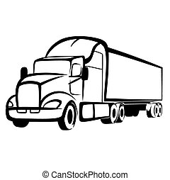 Vector illustration : Truck on a white background.