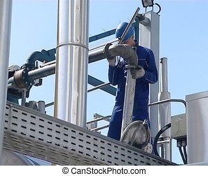 truck tank fill biodiesel - freight car tank filling with...