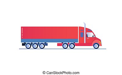 Truck template isolated on white background