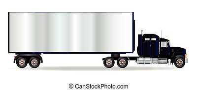 Truck Tractor Unit And Trailer - The front end of a large...