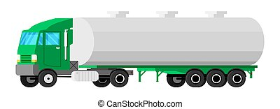 Truck Trailer Isolated on White.