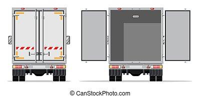Truck trailer rear view side