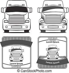 truck transportation logo - logo truck, simple vector...