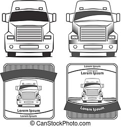truck transportation logo - logo truck, simple vector...