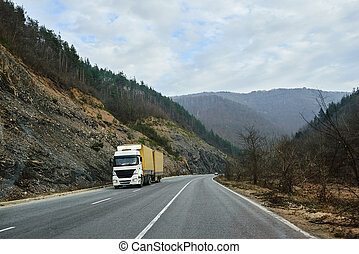 Truck transportation on road