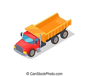 Truck Transportation Poster Vector Illustration