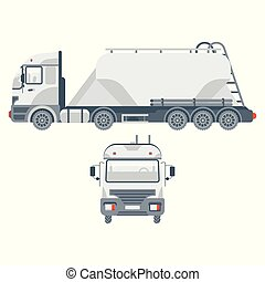 truck transportation sand side view and front view