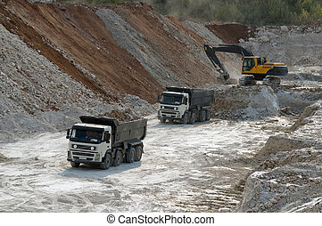 truck transports clay