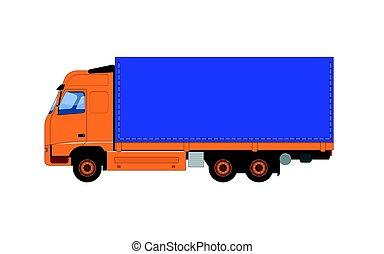 truck., vecteur, illustration