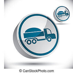 Truck vector 3d icon.